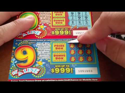 Mail Time Scratchers - 9 In A Line!
