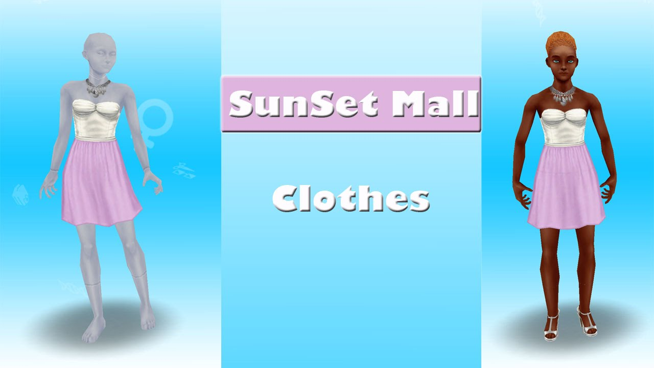 Sims Freeplay Sunset Mall Clothes Youtube