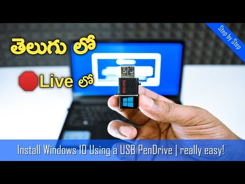 Windows 10 Official ISO File Live Installation With USB #techfindertelugu
