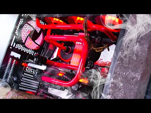 ULTIMATE Doom Eternal Custom Water Cooled Gaming PC Build - Time Lapse