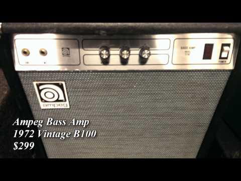 1972 Vintage Ampeg B100 Bass Amp