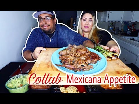 Mouth Watering Carne Asada Plate Mukbang   Collab MEXICANA APPETITE! Mexican Food Feast Mukbang