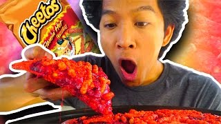 ULTIMATE HOT CHEETOS PIZZA!!!