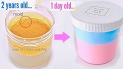 2 Year Old Slime VS 1 Day Old Slime! **Fixing 2 Year Old Slime!** How did they change?!