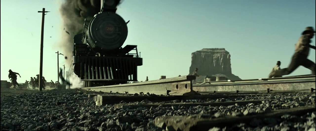 The Lone Ranger - Train Crash - YouTube