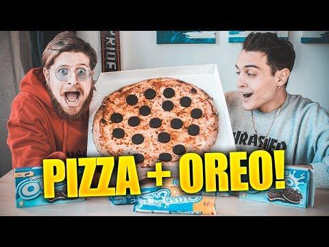COSA SUCCEDE SE ORDINI UNA PIZZA A DOMICILIO CON GLI OREO! feat Awed
