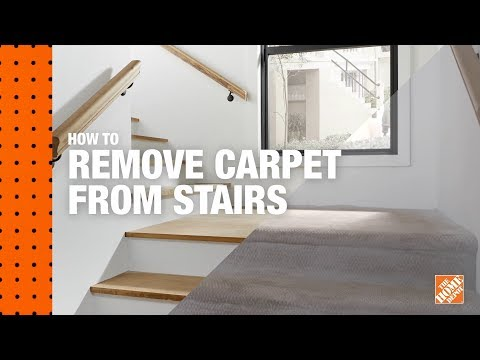 How To Remove Carpet From Stairs The Home Depot | Loose Carpet On Stairs | Runner | Fixing | Stair Treads | Stair Nosing | Laminate Flooring