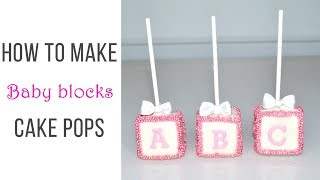 Cake decorating tutorials | BABY BLOCKS CAKE POPS | Sugarella Sweets