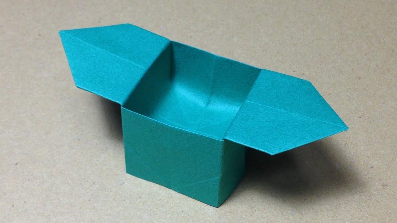 折り紙 箱 折り紙 簡単 : 折り紙(おりがみ)】 箱 ...