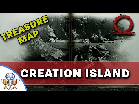 God of War Treasure Map - Creation Island - Map and Dig Spot Locations