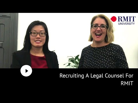 Recruiting A Legal Counsel For RMIT