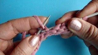 Вязание на спицах Изнаночная петля Урок 37 Knitting basics Нестандартный метод