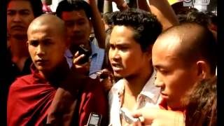 Protest for Rakhine Problem