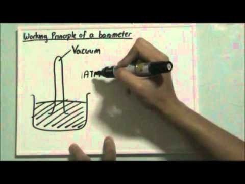 Working Principle of a Barometer