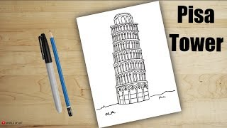 How to Draw Pisa Tower | Leaning Tower of Pisa