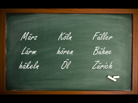 How to Pronounce the Umlaut (ä, ö, ü) in German!