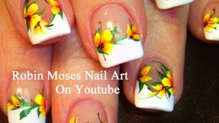 Nail Art Tutorials | Easy Diy Nails Yellow Flower Design Tutorial