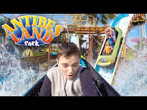 VLOG - LA DOUCHE à ANTIBES LAND ! - Le Plus Grand Parc d'Attractions de la Côte d'Azur