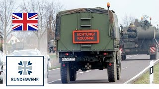Road movement with vehicles - Bundeswehr Tanks on Public Roads