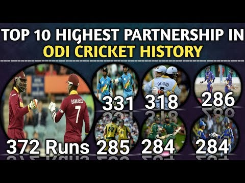 Top 10 Highest Partnership In ODI Cricket History | Highest Partnership of All Wicket In ODI Cricket