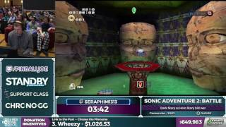 Sonic Adventure 2: Battle by seraphim1313 in 38:50 - Awesome Games Done Quick 2017 - Part 122