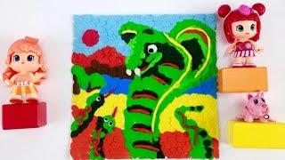 Развивающее видео - лепка для детей. Картина из пластилина