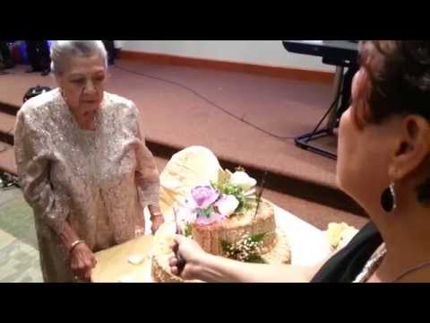 Nanay's 90th Birthday Party Video 4 of 8 (Blowing Candles on Birthday Cake)