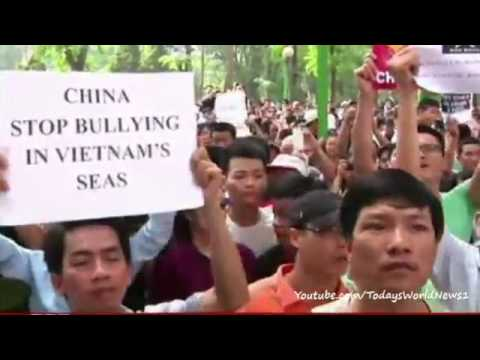 Vietnam holds anti-China protests over South China Sea dispute