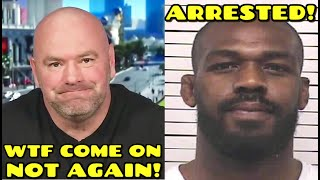 Jon Jones ARRESTED again for aggravated DWI and negligent use of firearm, Dana White speaks on LIVE