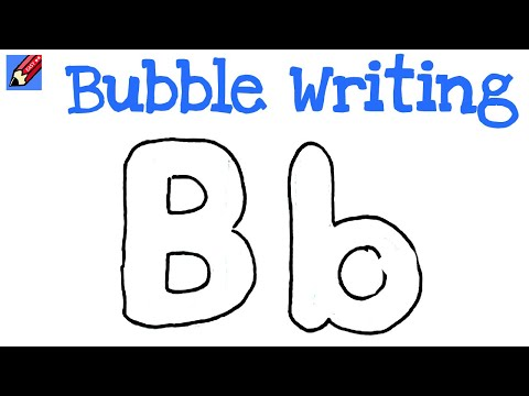 How To Draw Bubble Writing Real Easy Letter B Youtube