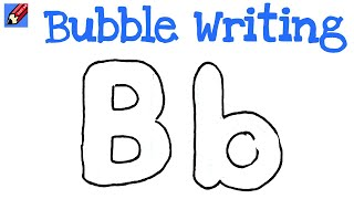 How to Draw Bubble Writing Real Easy - Letter B