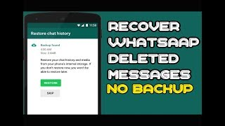 How to recover whatsaap deleted messages without backup 2018