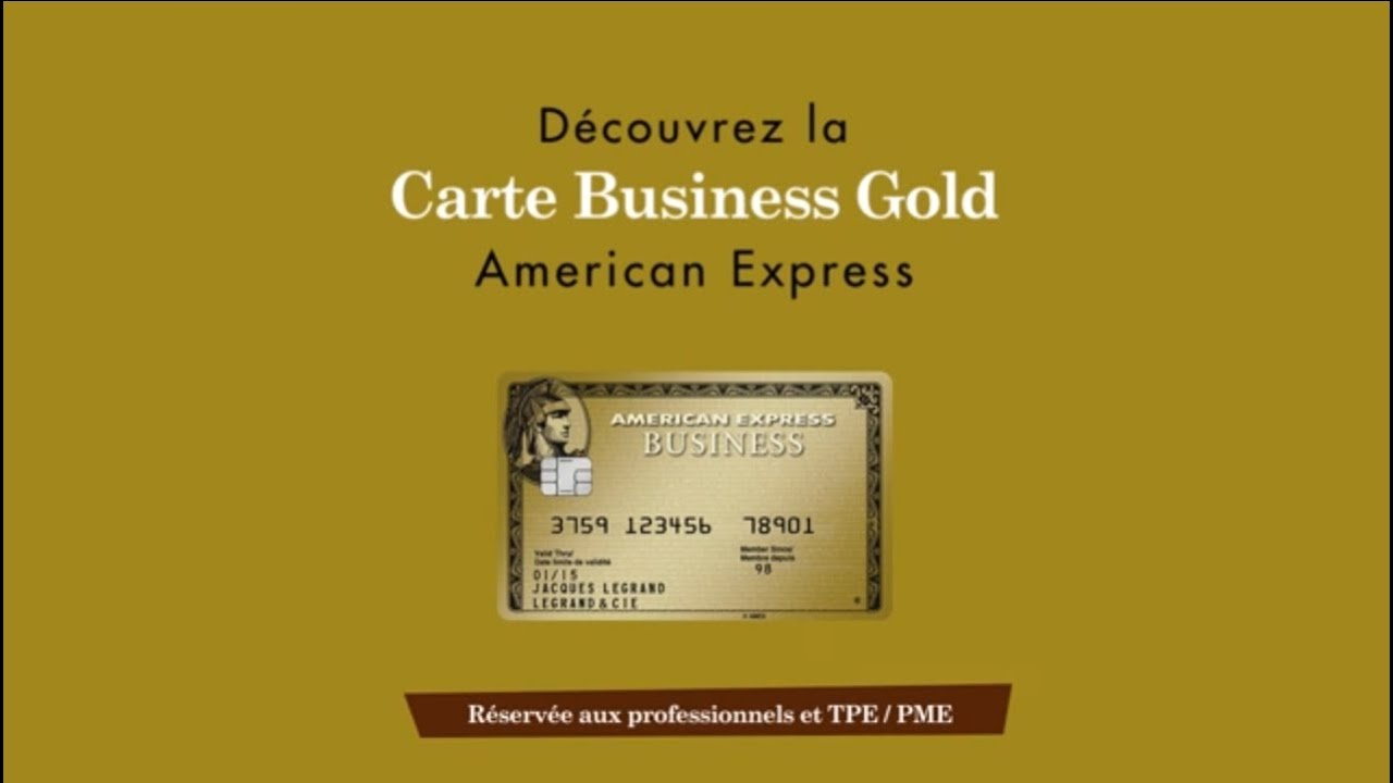 Carte American Express.Carte Business Gold American Express Youtube