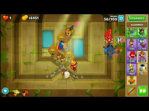 BTD 6 - Chutes and Ladders (CHIMPS - Black Medal) - YouTube