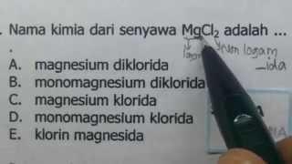 Penamaan senyawa -contoh soal - kimia SMA
