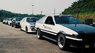 Toyota AE86 Trueno Drift, drag and time attack