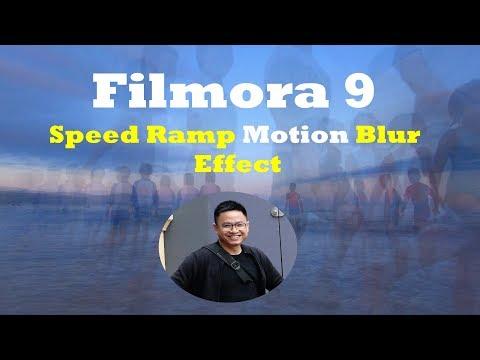 Wondershare Filmora9 Speed Ramp Motion Blur Effect