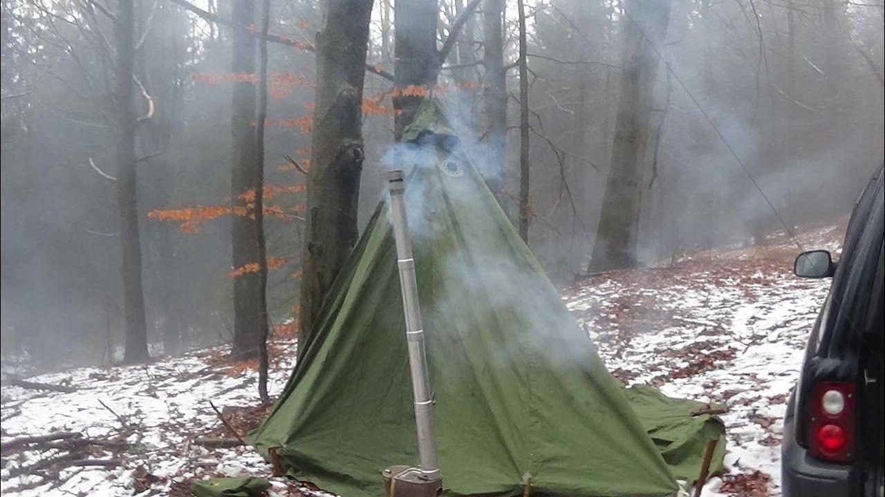 Zelt Mit Kamin : Zelt mit ofen schwedisches armeezelt youtube
