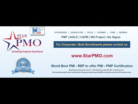 PMP Certification training in hyderabad | Starpmo.com - YouTube