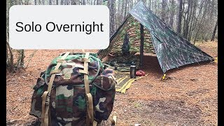 Solo Overnight Bushcraft Camp: East Texas