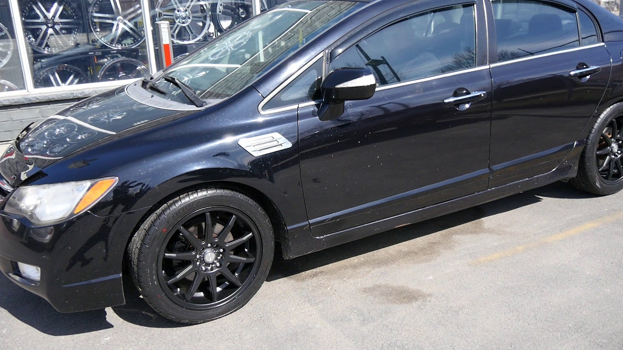 hight resolution of 2006 acura csx with custom 17 inch black rims tires