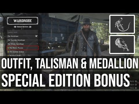Nuevo Paraiso Outfit, Talisman & Medallion - Red Dead Redemption 2 Special Edition