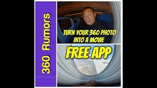 FREE 360 photo editing app to turn your 360 photo into an overcapture video (like Insta360 Studio)