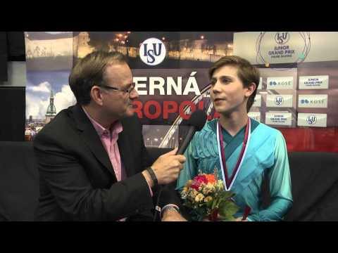 2015 ISU Junior Grand Prix Bratislava - Roman Sadovsky CAN Interview