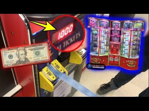 $20 Arcade Ticket Vending Machine Challenge! | JOYSTICK