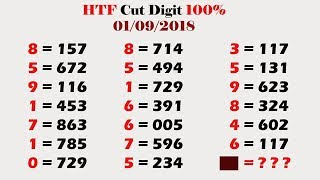 3up Direct Set 01-09-2018 Cut Digit Calculation Thai Lottery Sure Tips