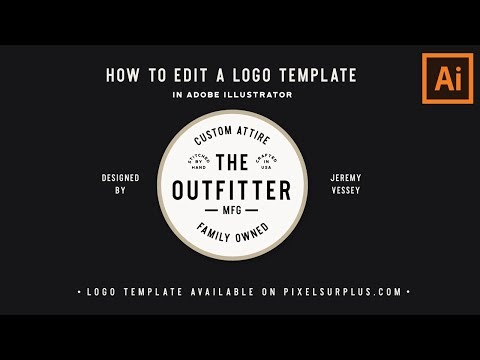 How To Edit A Logo Template In Adobe Illustrator (Free Logo Template Included)
