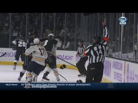 Drew Stafford vs Brayden McNabb Oct 23, 2014