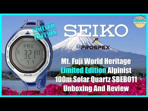 Seiko Prospex Mt. Fuji World Heritage Limited Edition 100m Solar Quartz SBEB011 Unboxing And Review