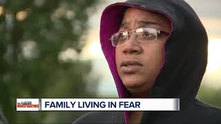 Family in hiding after what officials call worst case of witness intimidation